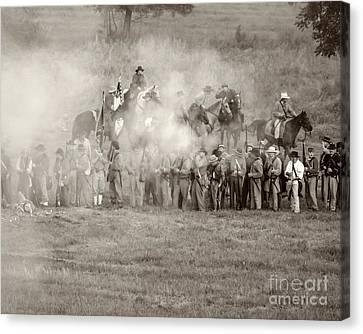 Gettysburg Confederate Infantry 7503s Canvas Print
