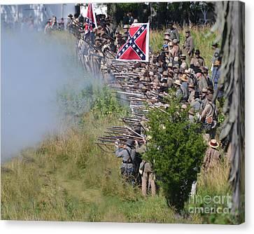 Gettysburg Confederate Infantry 8769c Canvas Print