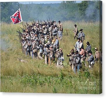 Gettysburg Confederate Infantry 9015c Canvas Print