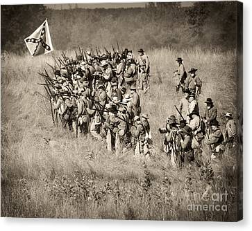 Gettysburg Confederate Infantry 9015s Canvas Print