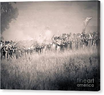 Gettysburg Confederate Infantry 9112s Canvas Print