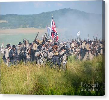 Gettysburg Confederate Infantry 9214c Canvas Print
