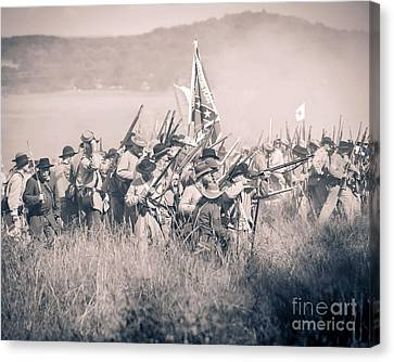 Gettysburg Confederate Infantry 9214s Canvas Print