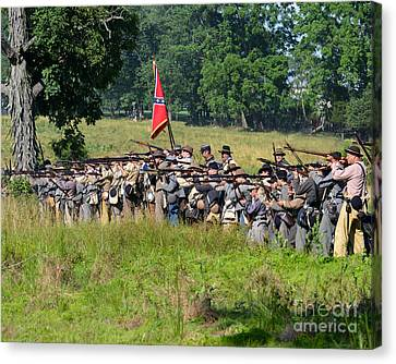 Gettysburg Confederate Infantry 9270c Canvas Print
