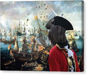 Giant Schnauzer Art Canvas Print - Battle Of Gibraltar  Canvas Print by Sandra Sij