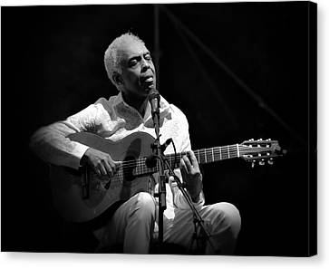 Gilberto Gil   Black And White Canvas Print