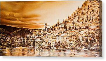 Golden Reflections Canvas Print by Michel Angelo Rossi