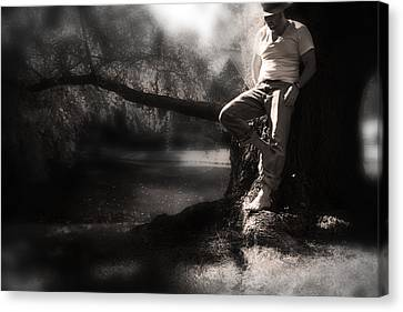 Canvas Print featuring the photograph ... by Gray  Artus