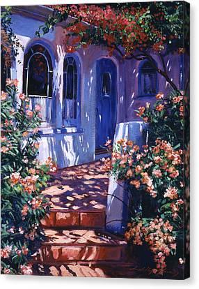 Greek Poets Cottage Canvas Print by David Lloyd Glover