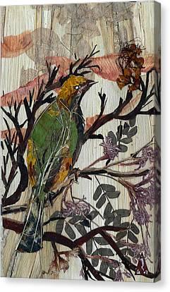 Animal Canvas Print -  Green-yellow Bird by Basant Soni