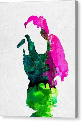 Gwen Watercolor Canvas Print by Naxart Studio