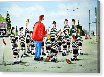 Half Time Canvas Print by Wilfred McOstrich
