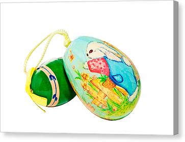 Hand Painted Easter Eggs Canvas Print