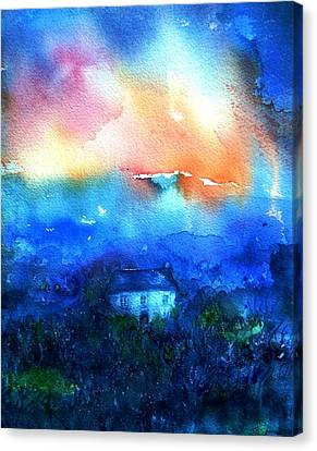 Haunted Dawn Canvas Print by Trudi Doyle