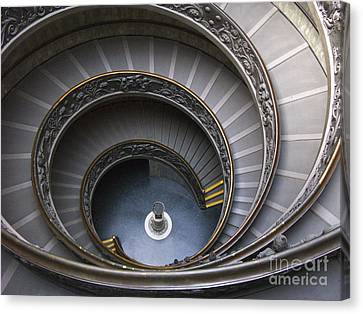 Heart Of The Vatican Museum Canvas Print by Sandra Bronstein