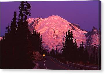 Highway To Sunrise Canvas Print