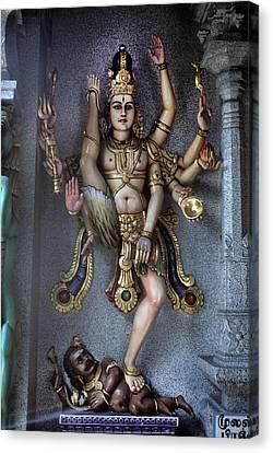 Hindu God Kali Canvas Print by Carl Purcell