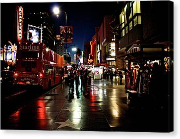 Hollywood Blvd. Canvas Print by Amber Abbott