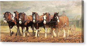 Canvas Print featuring the digital art  Horse Power by Trudi Simmonds