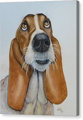 Hound Dog's Pleeease Canvas Print by Kelly Mills