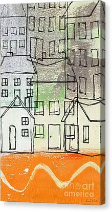 Houses By The River Canvas Print by Linda Woods