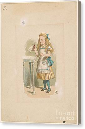 How Alice Grew Tall Canvas Print by MotionAge Designs