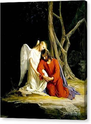 In Gethsemane Canvas Print by MotionAge Designs