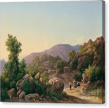 Italienische Landschaft Canvas Print by MotionAge Designs