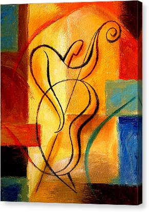 Jazz Fusion Canvas Print by Leon Zernitsky