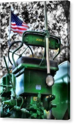 John Deere American Tractor Canvas Print by Ben Michalski