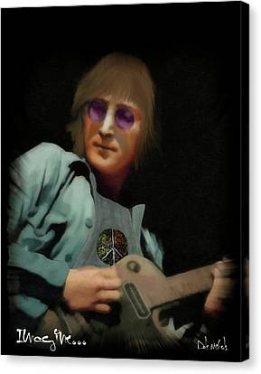 John Lennon...imagine Canvas Print by Dale Nichols