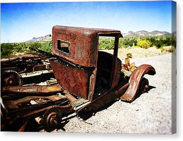 Junkyard Daddy Canvas Print by Beverly Guilliams