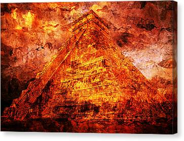 Kukulcan Pyramid Canvas Print
