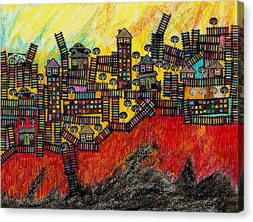 La Terra Del Fuoco Canvas Print by Adriano Necci