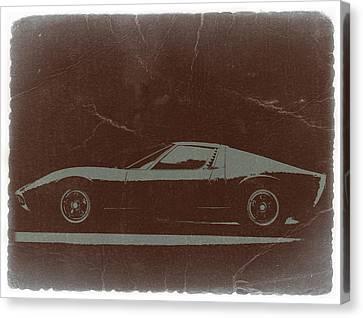 Lamborghini Miura Canvas Print by Naxart Studio