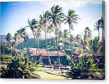 Canvas Print featuring the photograph  Lanakila 'ihi'ihi O Iehowa O Na Kaua Church Keanae Maui Hawaii by Sharon Mau