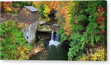 Old Mills Canvas Print -  Lantermans Mill Pano  by Emmanuel Panagiotakis