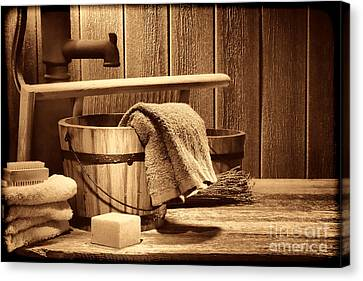 Laundry At The Ranch Canvas Print by American West Legend By Olivier Le Queinec