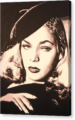 - Lauren Bacall - Canvas Print