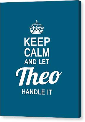 Let Theo Handle It Canvas Print by Sophia