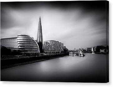 London City And The Shard.  Canvas Print by Ian Hufton