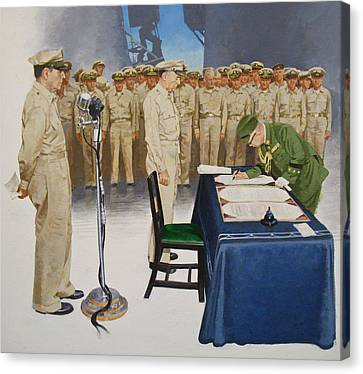 Canvas Print featuring the painting  Macarthur by Cliff Spohn
