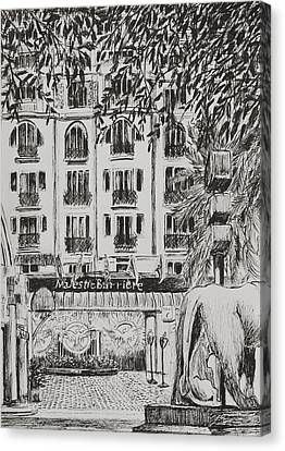 South Of France Canvas Print -  Majestic  Cannes by Vincent Alexander Booth
