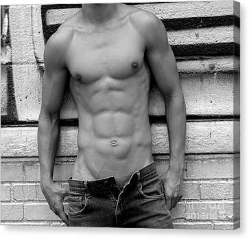 Male Abs Canvas Print by Mark Ashkenazi
