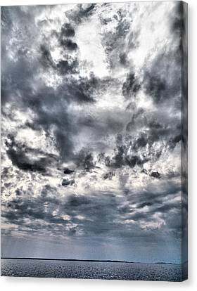 Canvas Print featuring the photograph  Mental Seaview by Jouko Lehto