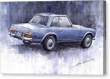 Mercedes Benz 280 Sl W113 Pagoda  Canvas Print by Yuriy  Shevchuk