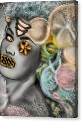 Mermaids Dont Speak Canvas Print by Pat Carafa