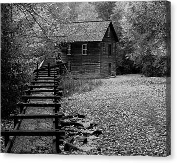 Mingus Mill - Black And White Canvas Print by Fred Baird