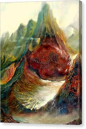 Mountains Fire Canvas Print by Henryk Gorecki