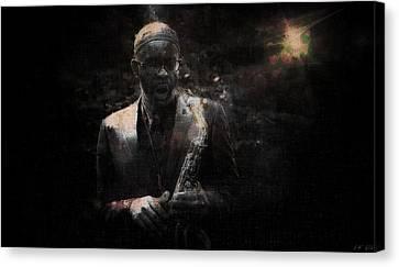 Music Instrument Trumpet Sax Trombon 1 Canvas Print